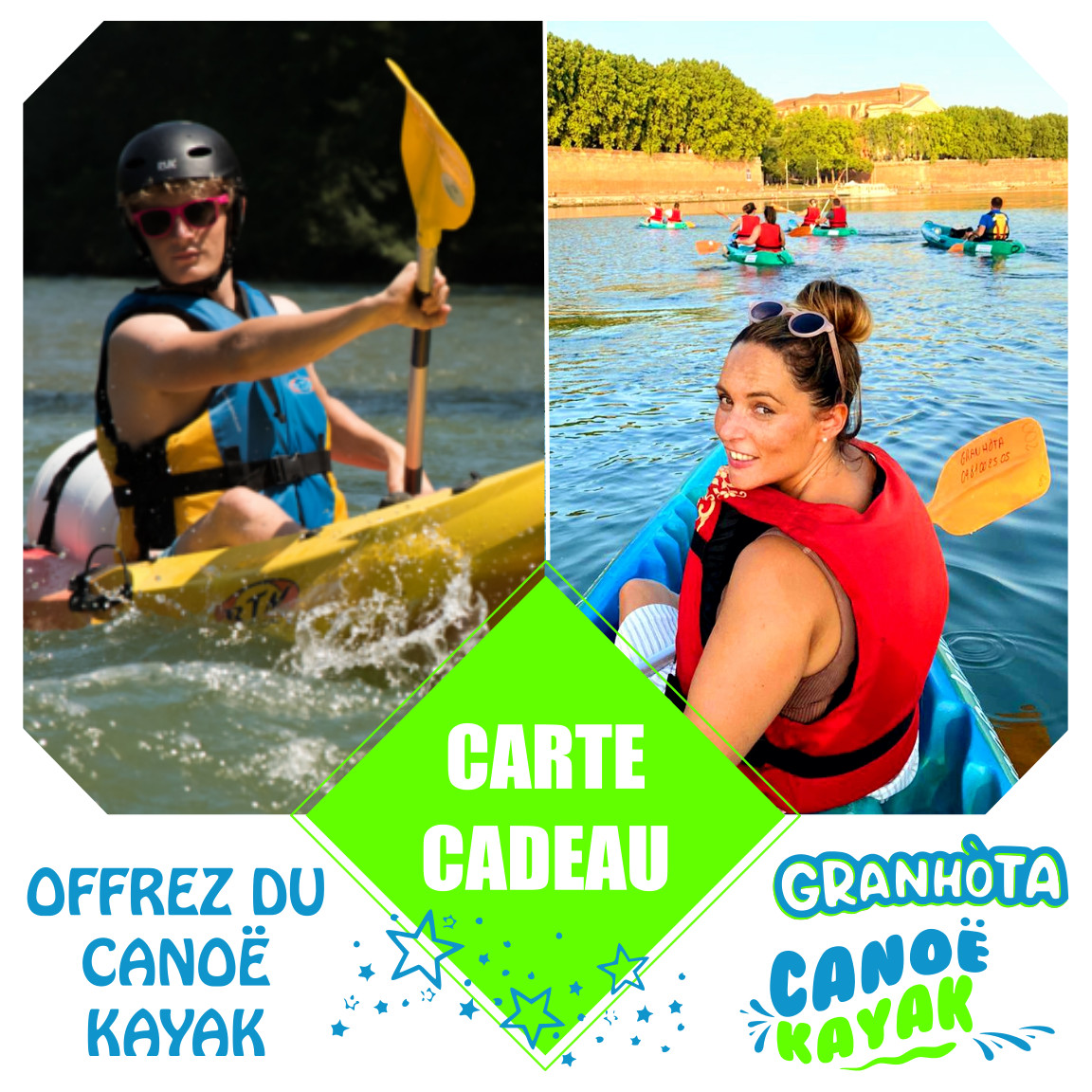 carte cadeau canoe kayak